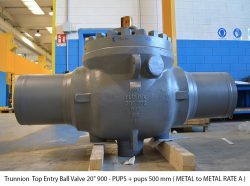 """Trunnion Top Entry Ball Valve 20"""" 900 - PUPS + pups 500 mm ( METAL to METAL RATE A )"""