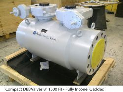 """Compact DBB Valves 8"""" 1500 FB - Fully Inconel Cladded"""