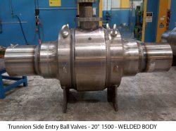 """Trunnion Side Entry Ball Valves - 20"""" 1500 - WELDED BODY"""