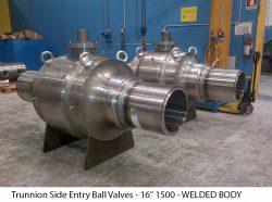 """Trunnion Side Entry Ball Valves - 16"""" 1500 - WELDED BODY"""