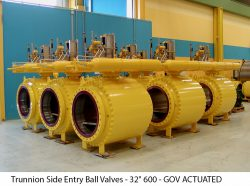 """Trunnion Side Entry Ball Valves - 32"""" 600 - GOV ACTUATED"""